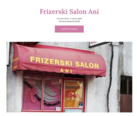 Frizerski Salon Ani